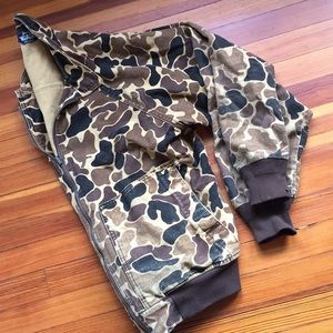 WOOLRICH Vintage Camouflage Collar Hunting Jacket